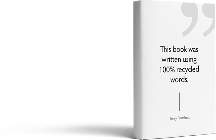 book cover with a quote
